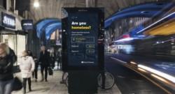 digital billboard in Stockholm